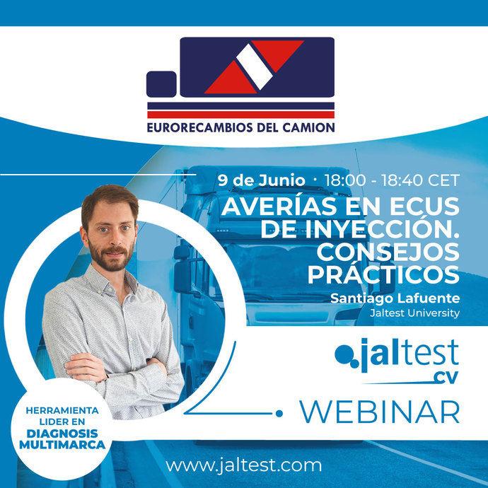 Webinar gratis con Jaltest CV sobre averías en ECUs de inyección y consejos prácticos