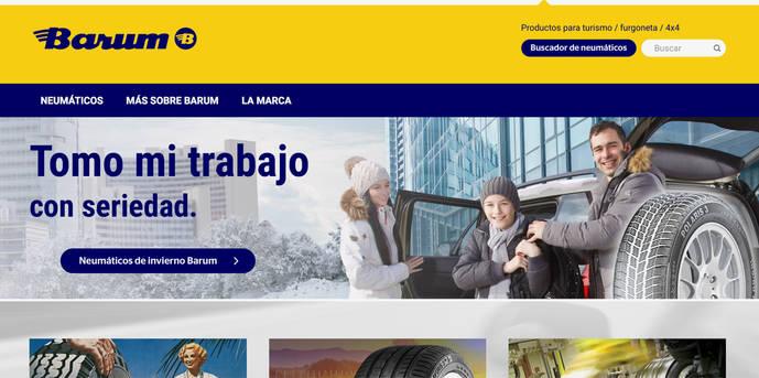 La marca de neumáticos Barum renueva página web