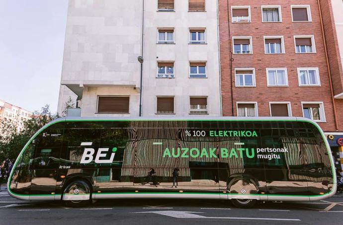 Uno de los autobuses que formarán parte del BEI de Vitoria.