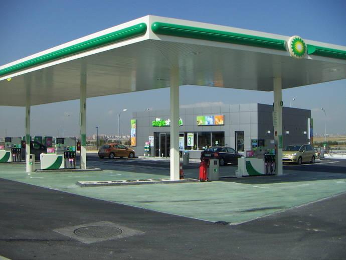 Estación de servicio de BP.