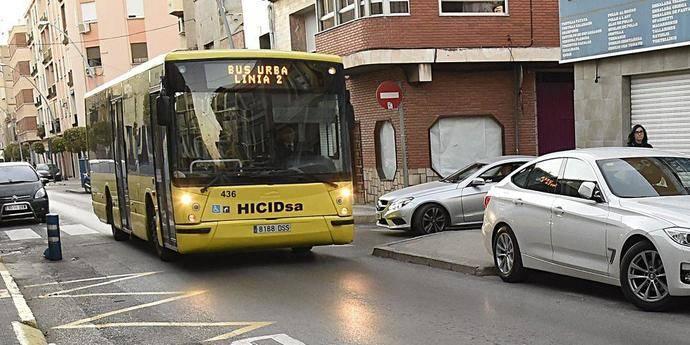 Autobús urbano de la ciudad de Villarreal.