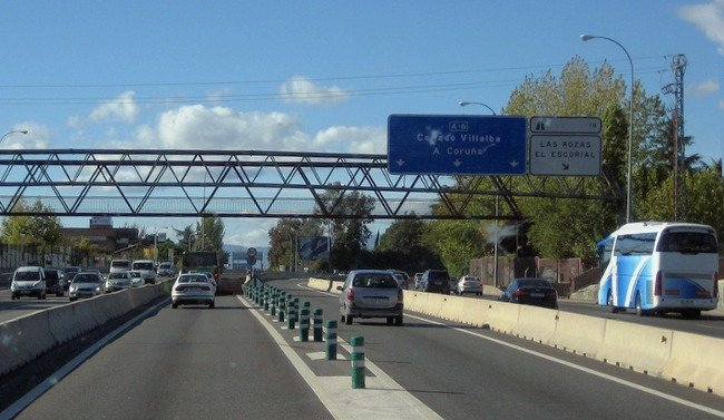 Una autopista española.