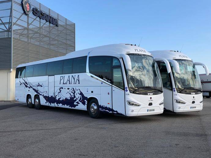 Empresa Plana incorpora 14 autocares de Scania a su flota