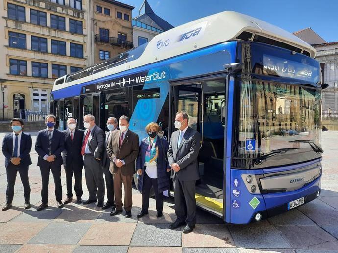 Oviedo, primera ciudad española con bus de hidrógeno cero emisiones