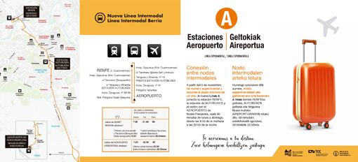 En marcha la línea de transporte del aeropuerto de Noáin