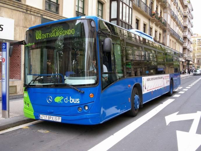 Dbus decide poner en marcha varios cambios en los autobuses de San Sebastián