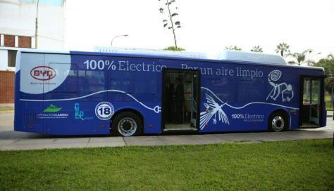 Perú aprueba estándar para buses eléctricos en Lima y Callao