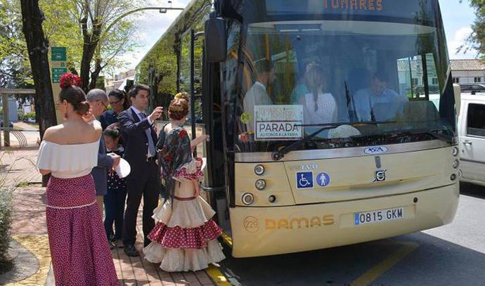 El Aljarafe cuenta con autobús exprés al recinto de la Feria de Sevilla