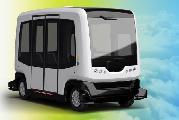 El primer viaje del autobús eléctrico y autónomo Wepod