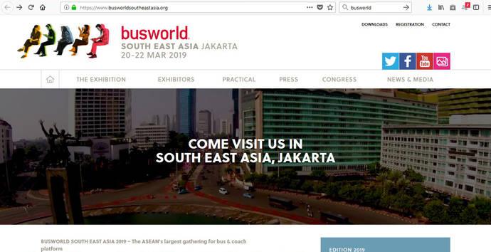 Busworld tendrá una tercera edición en 2019, para su mercado en el sudeste asiático
