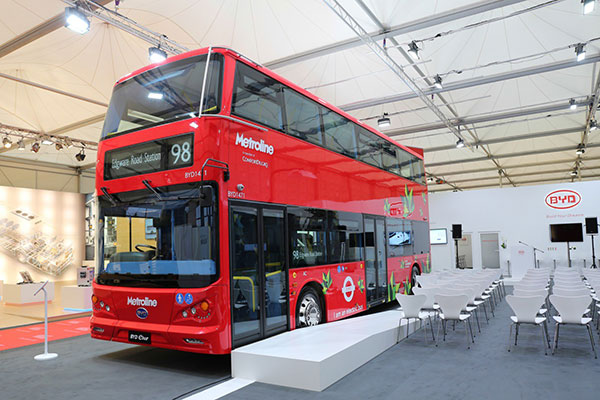 Unvi y BYD se asocian para la introducción en Europa de autobuses de doble piso