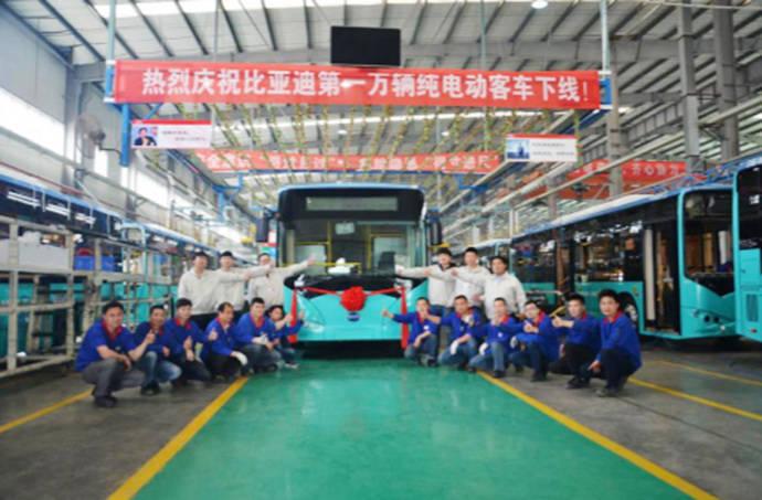 BYD fabrica su autobús 100% eléctrico número 10.000