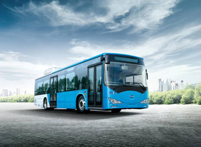 Un autobús eléctrico BYD de 12 metros.