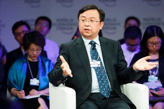 Wang Chuanfu, fundador y presidente BYD, durante su intervención.