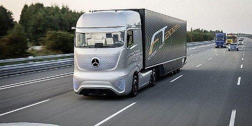 Un camión sin conductor.