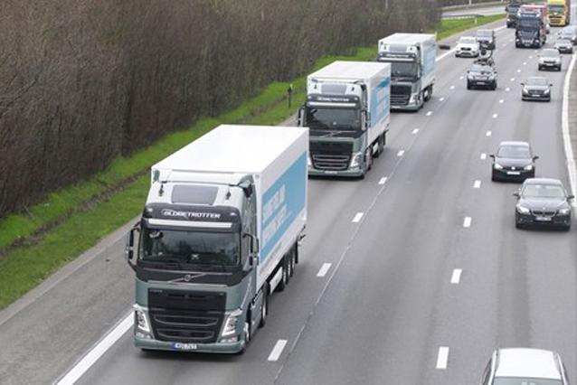 El platooning será positivo para la reducción de emisiones y la escasez de conductores