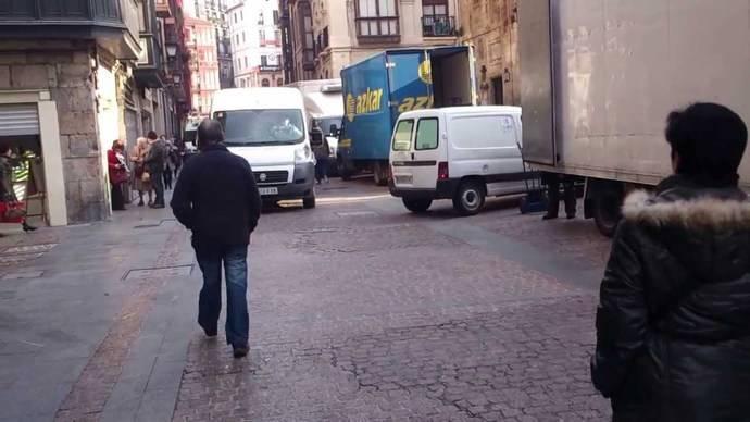 Proyecto europeo, a prueba en Bilbao, mejora la carga y descarga en ciudad