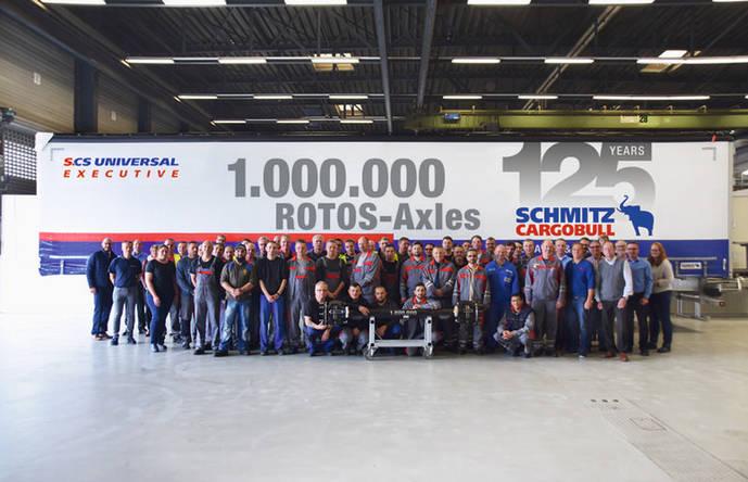 Schmitz Cargobull fabrica su eje número 1.000.000 en la planta de Altenberge