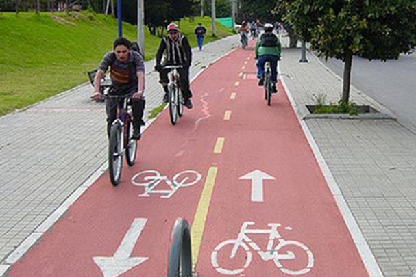 Un carril bici.