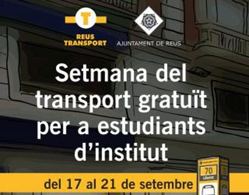 Autobús gratuito en Reus para alumnos de instituto durante una semana
