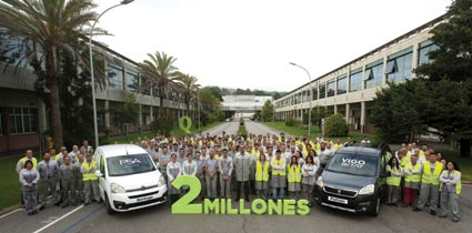Vigo supera los dos millones de Citroën Berlingo y Peugeot Partner
