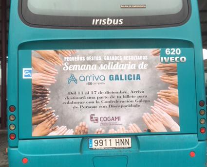 Comienza la Semana solidaria de Arriva Galicia