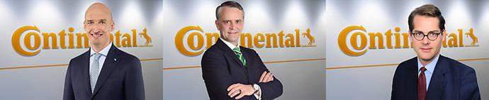 Neumáticos de Continental anuncia 3 nuevos directores unidad de negocio