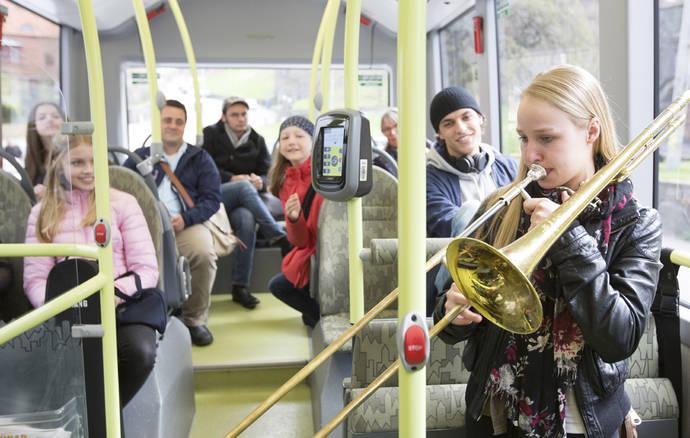 Conciertos clásicos en la ruta de autobús eléctrico en Gotemburgo