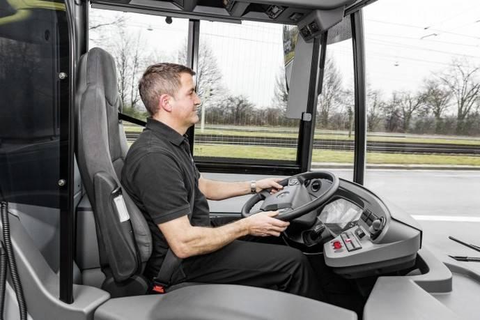 Seguridad en el transporte viajeros empienza en asiento del conductor