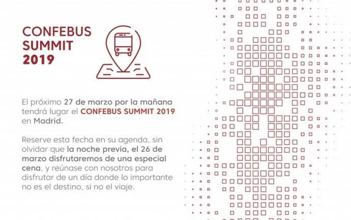 El 27 de marzo se celebra la primera edición del Confebus Summit