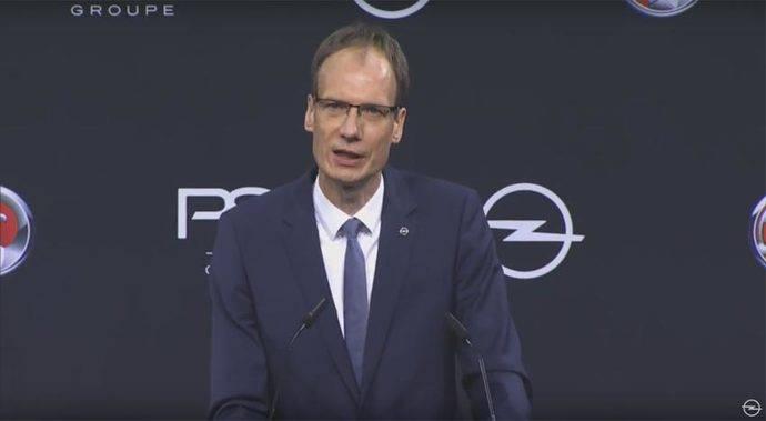 El consejero delegado de Opel, Michael Lohscheller, en la presentación del Plan Pace.