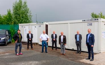 Contenedores sanitarios con duchas de Krone en Alemania