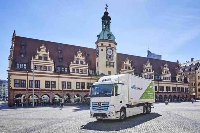 Camión en Leipzig.