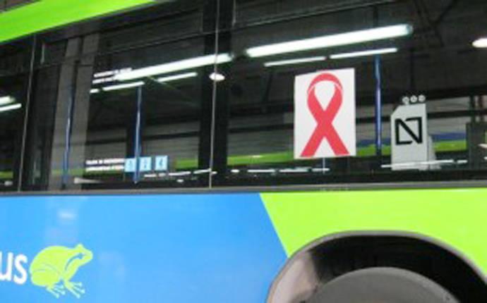 Dbus apoya la lucha contra el sida