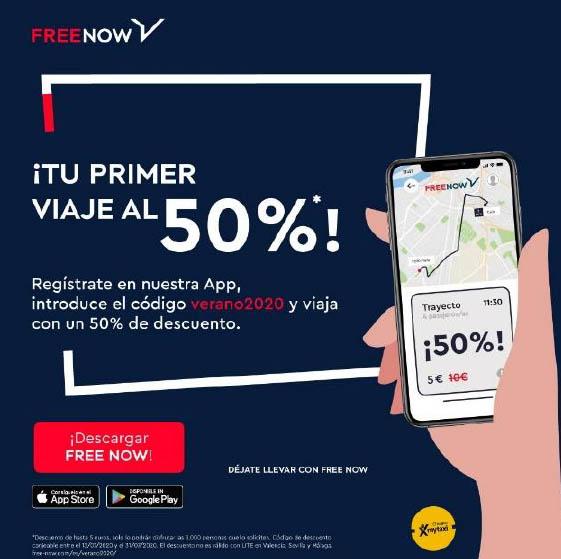 Free Now lanza una campaña de descuentos a nuevos usuarios para reactivar la demanda
