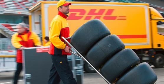 DHL hace entregas para la Fórmula 1 en España