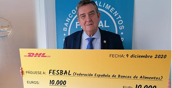 DHL Express dona 10.000€ a la Federación Española de Bancos de Alimentos