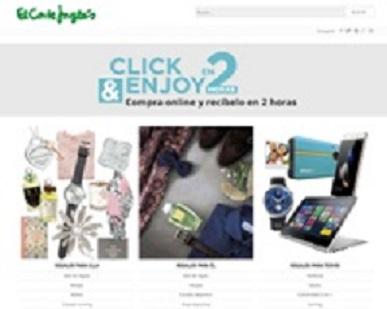 El Corte Inglés lanza un servicio de compra 'online' con entrega en sólo dos horas
