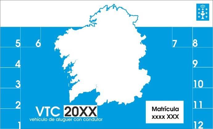 Los VTC autorizados en Galicia deben identificarse con un distintivo obligatorio
