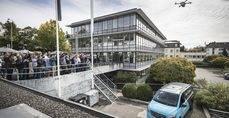 Exhibición del sistema 'Vans y Drones' en Zurich.