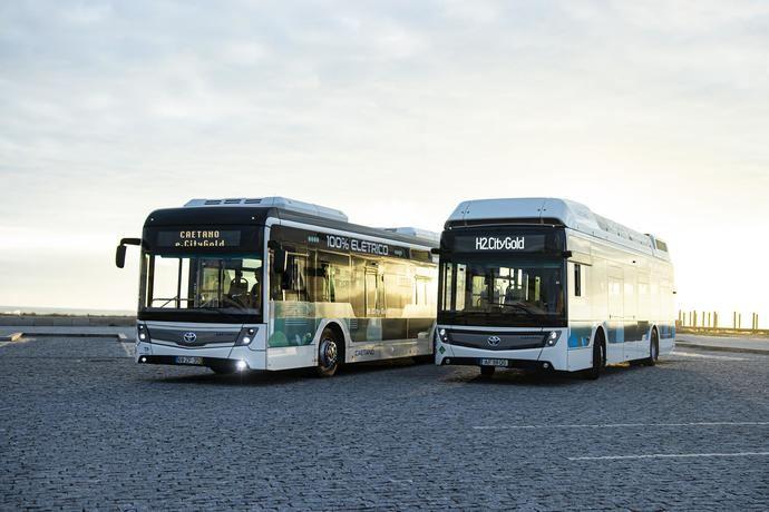 Toyota comparte marca con los autobuses cero emisiones de CaetanoBus