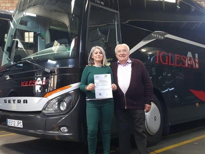 Autocares Iglesias obtiene la Certificación Q de Calidad Turística