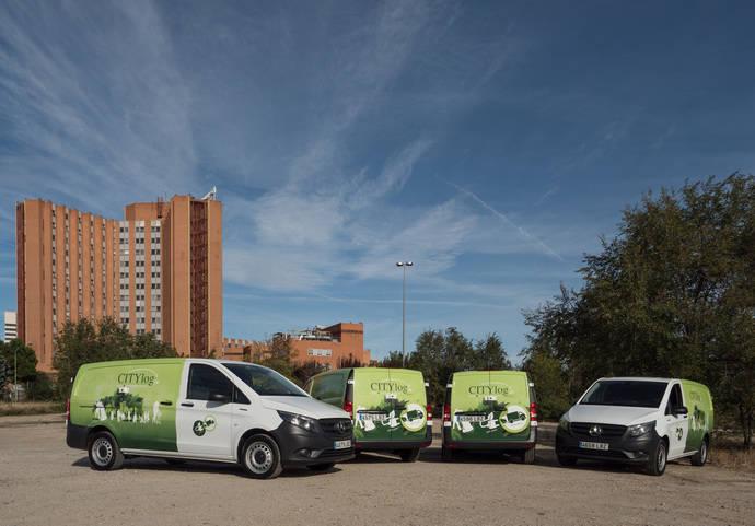 Citylogin incorpora cuatro furgonetas eVito a su flota de Madrid