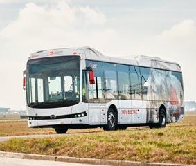 El aeropuerto de Bélgica adquiere 30 e-buses de BYD