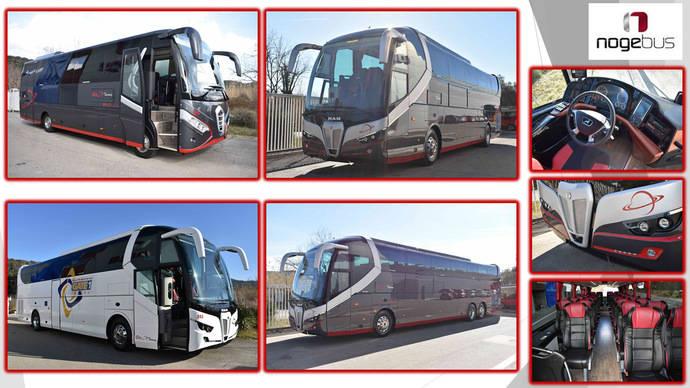 Elite Touring incorpora a su flota cinco autobuses Nogebus