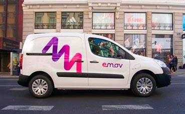 Emov, el primero en alquilar comerciales 100% eléctricos