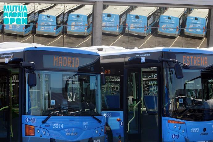Madrid activa una línea de bus exprés por el Mutua Madrid Open de tenis