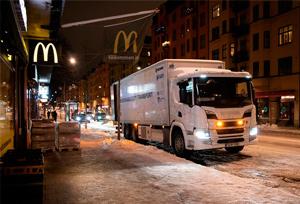 Scania prueba las entregas nocturnas silenciosas