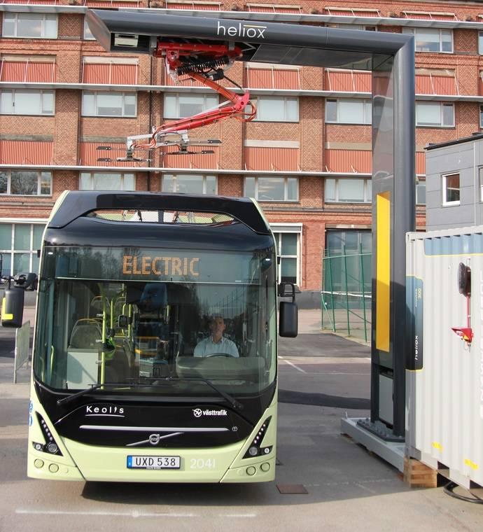 Volvo y Heliox inauguran la estación de carga para autobuses eléctricos