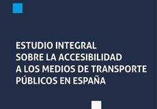 Un estudio analiza la accesibilidad del transporte públicos en España